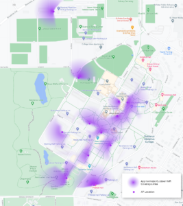 Map of Outdoor Wifi Locations and Coverage